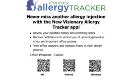 New Visionary Allergy Tracker app!